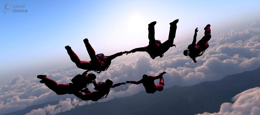 Group Parachuting