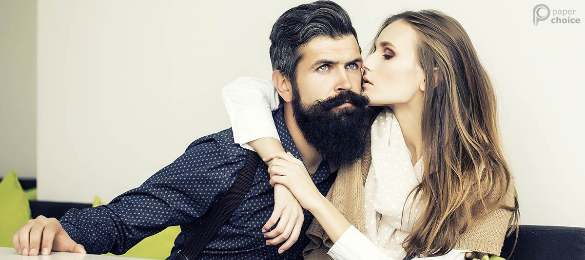 Lumbersexual with girl