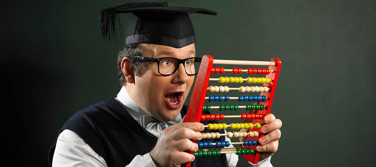 a nerd in college
