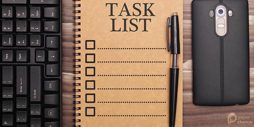 Organizational Task List