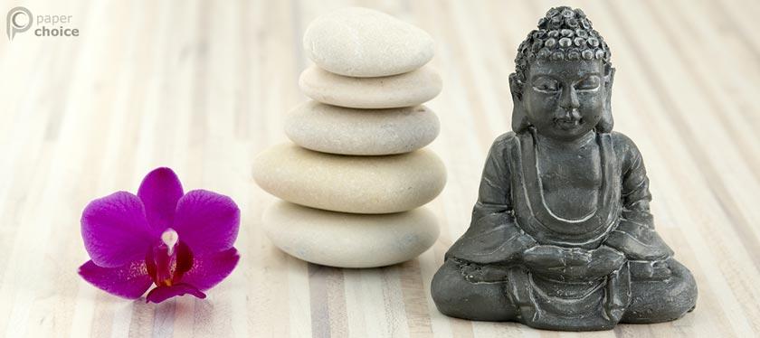 Small Stone Buddha Statuette