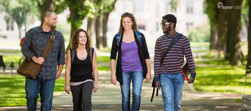 Student Walking