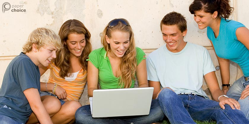 Students Checking Website